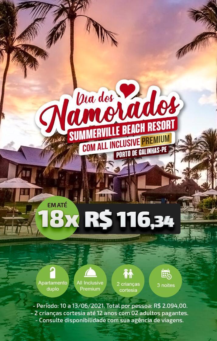 DIA DOS NAMORADOS NO SUMMERVILLE BEACH RESORT - PORTO DE GALINHAS/PE