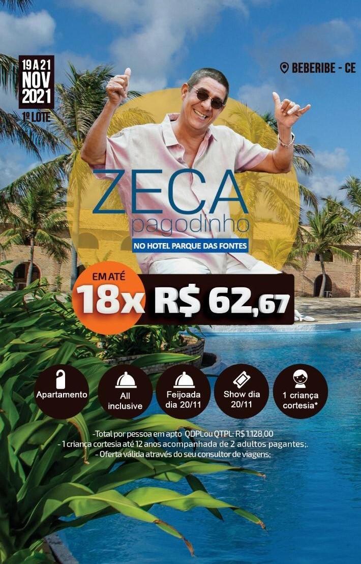 ZECA PAGODINHO NO HOTEL PARQUE DAS FONTES - BEBERIBE/CE
